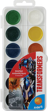 Краски акварельные Kite Transformers 12 цветов, фото 2