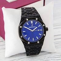 Наручные мужские часы Audemars Piguet Royal Oak Quartz Black-Blue Skull