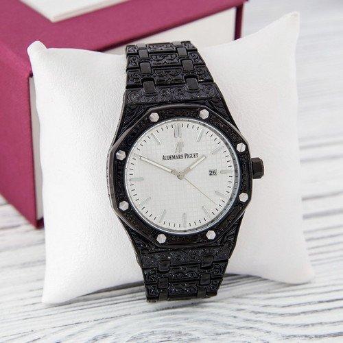 Наручные мужские часы Audemars Piguet Royal Oak Quartz Black-White Skull