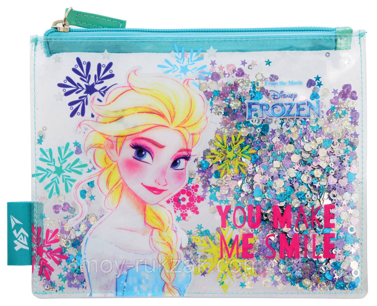 "Пенал - косметичка с блёстками ""Frozen"" «YES» 532634"
