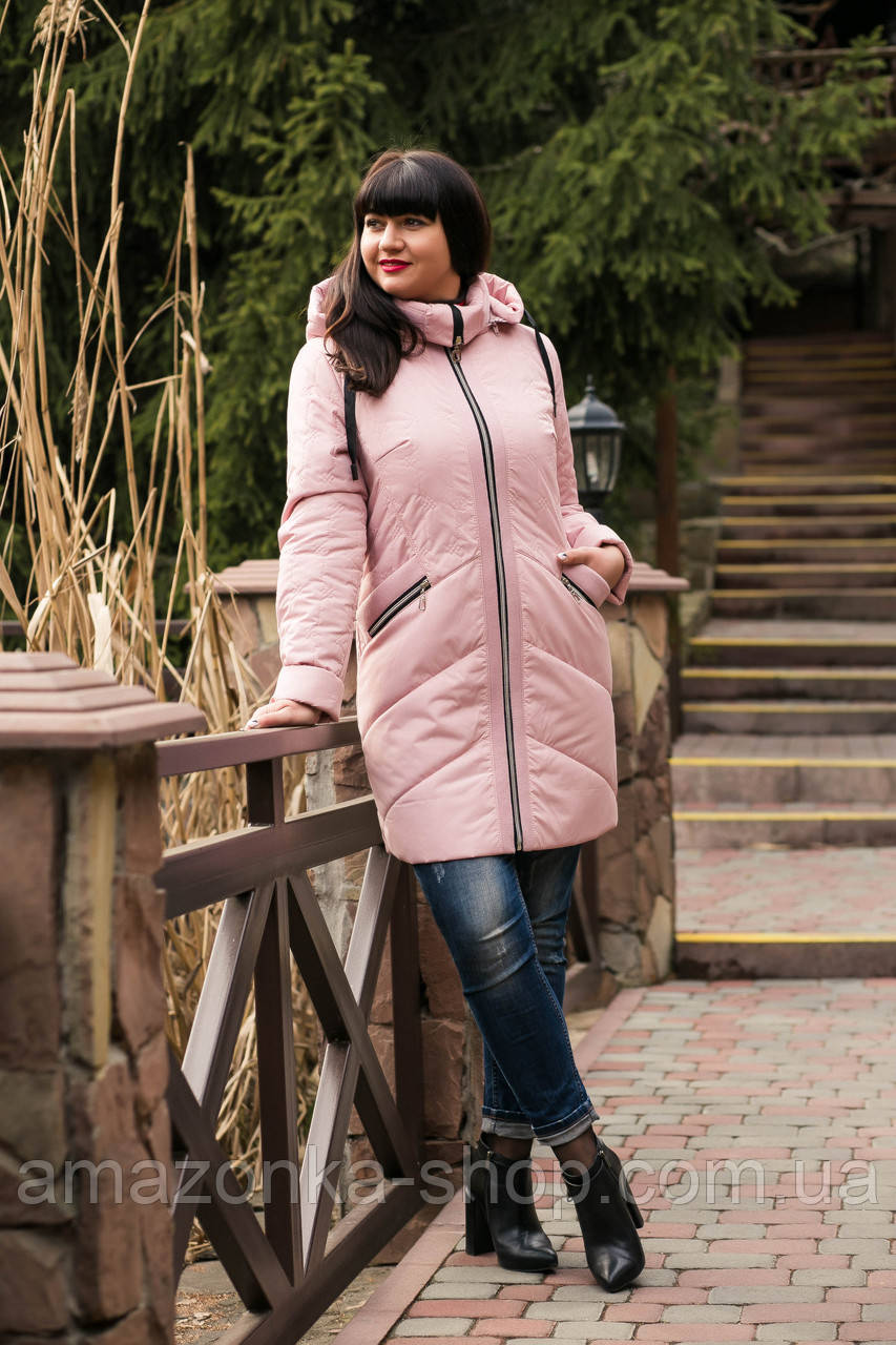 Женское весеннее пальто больших размеров - модель 2019 - (кт-456)