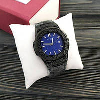 Наручные мужские часы Patek Philippe Nautilus Black-Blue Skull