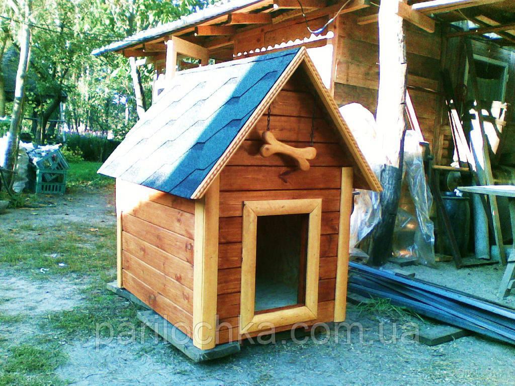 Деревянные будки, домики для собак