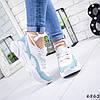Кроссовки женские Rexta белый + голубой натуральная кожа )), фото 2
