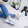 Кроссовки женские Rexta белый + голубой натуральная кожа )), фото 3