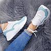 Кроссовки женские Rexta белый + голубой натуральная кожа )), фото 8
