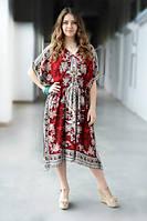 Летнее платье Гоа Middle красный