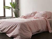 Розовый № 1273, лен (Двуспальный)