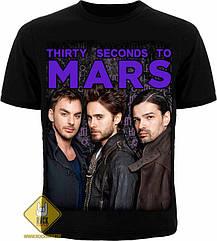 Футболка 30 Second To Mars (фото группы), Размер XL