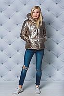 Куртка женская демисезонная на силиконе золото, фото 1