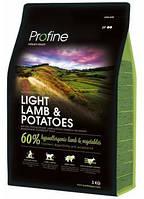 Сухой корм Profine Light Lamb с ягненком и картофелем для контроля массы тела у собак с избыточным весом