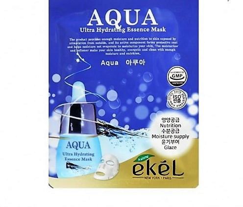 Увлажняющая и питающая тканевая маска с гидролизованным коллагеном EKEL Aqua Ultra Hydrating Essence Mask