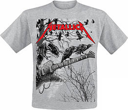 Футболка Metallica (guitar with ravens (меланж)), Размер S