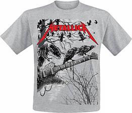 Футболка Metallica (guitar with ravens (меланж)), Размер XXXL