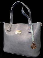 """Женская сумка, качественная """"брендовая"""", цвет голубой, стильная, 000151, фото 1"""