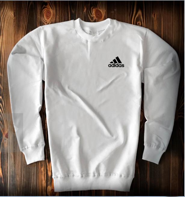 Свитшот белого цвета Adidas топ-реплика