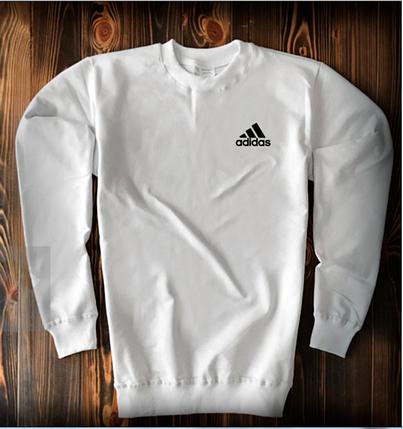 Свитшот белого цвета Adidas топ-реплика, фото 2