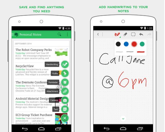Мобильное приложение для бизнеса Evernote