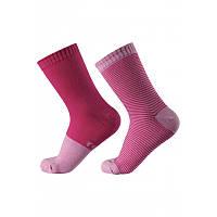 Малиновые носки Polku (2 пары) размеры 30/33 весна;осень;деми девочка TM Reima 527301-4621