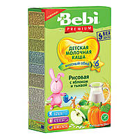 Молочная каша Bebi Premium Рисовая с яблоком и тыквой 200 г 1007793 ТМ: Bebi