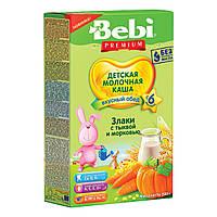 Молочная каша Bebi Premium Злаки с тыквой и морковью 200 г 1007792 ТМ: Bebi