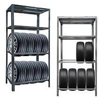 Стеллаж для хранения шин металлический для гаража, фото 1