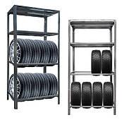 Стеллаж для хранения шин металлический для гаража