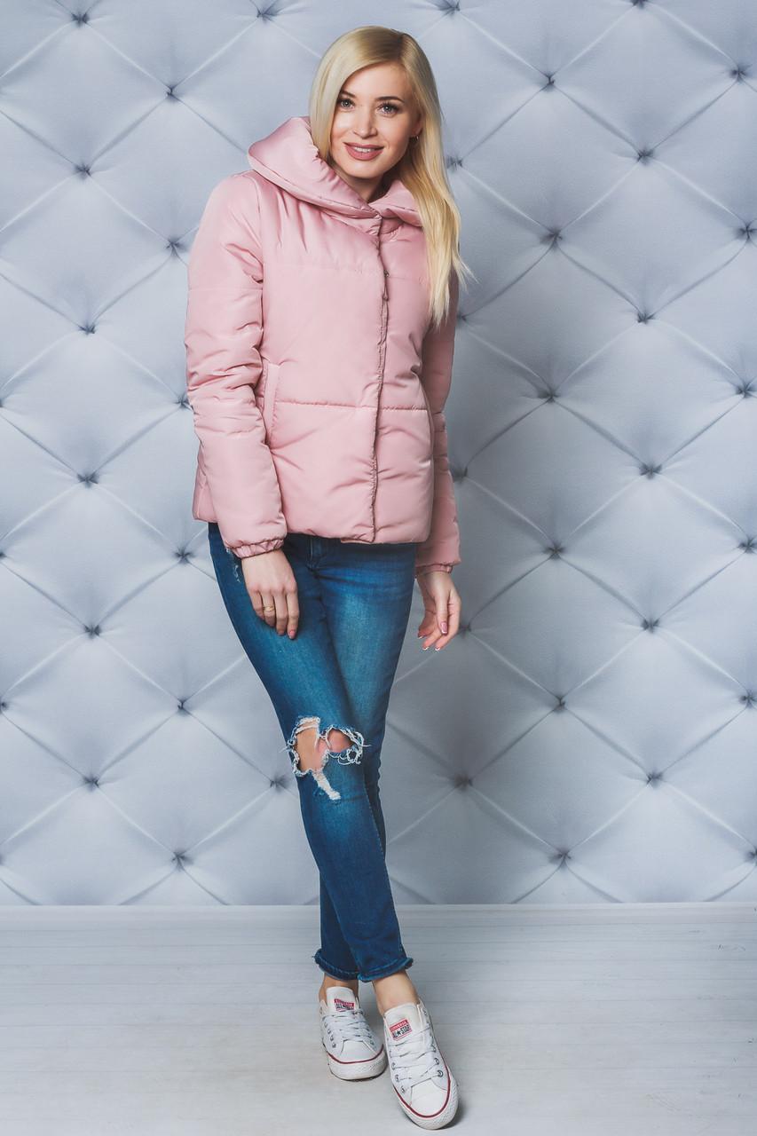 Куртка женская демисезонная на силиконе персик