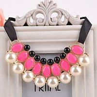 Ожерелье воротник розовый
