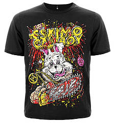 Черная футболка Eskimo Callboy (rabbit), Размер M