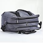 Дорожная сумка Dolly 776 три расцветки 50 см. - 27 см. - 37 см. Серый, фото 4