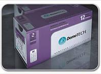 Шовный материал DemeSORB 6/0,  игла 13 мм, 3/8 окр, обратно-режущая, нить 75 см, фиолетовая