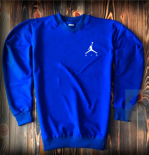 Свитшот стильный Jordan ярко-синий