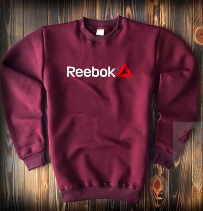 Світшот Reebok бордовий топ-репліка, фото 2