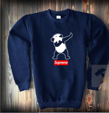 Свитшот цвета нави Supreme панда топ-реплика, фото 2