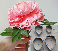 """Каттер большой для глины мастики """"Пион"""" волнистые края вырубка (к-т из 4 элементов большой), фото 1"""