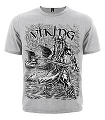 Серая футболка Viking (меланж), Размер XL