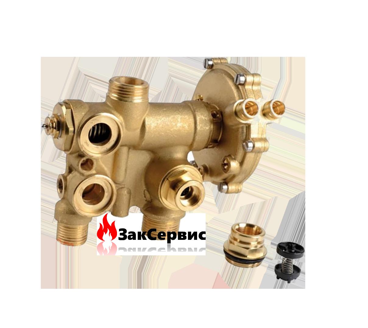 Гидравлическая группа трехходового клапана на газовый котел Ariston GENUS 23-27 MI/MFFI 998069