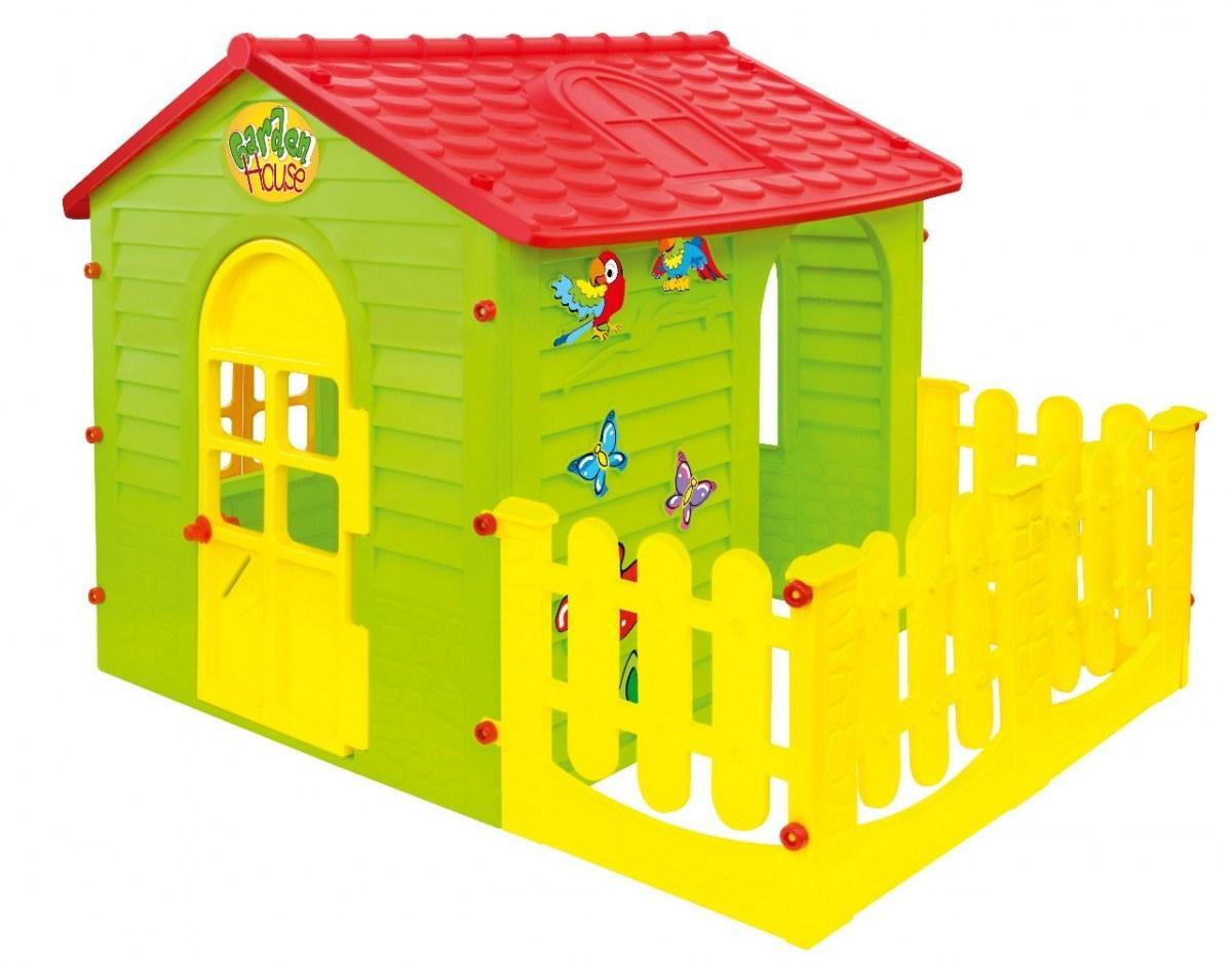 Игровой домик с террасой Mochtoys 10839 Garden House