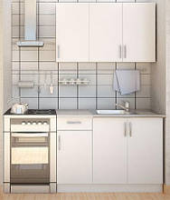 Кухня серии ЭКОНОМ - Фасад ДСП Белый