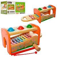 Деревянная игрушка Центр развивающий WW-820 (сортер, ксилофон, стучалка)