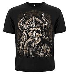 Футболка Viking (наполовину лицо, наполовину череп), Размер M