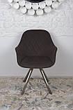 Крісло поворотне Almeria, коричневий, фото 3