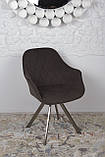 Крісло поворотне Almeria, коричневий, фото 6