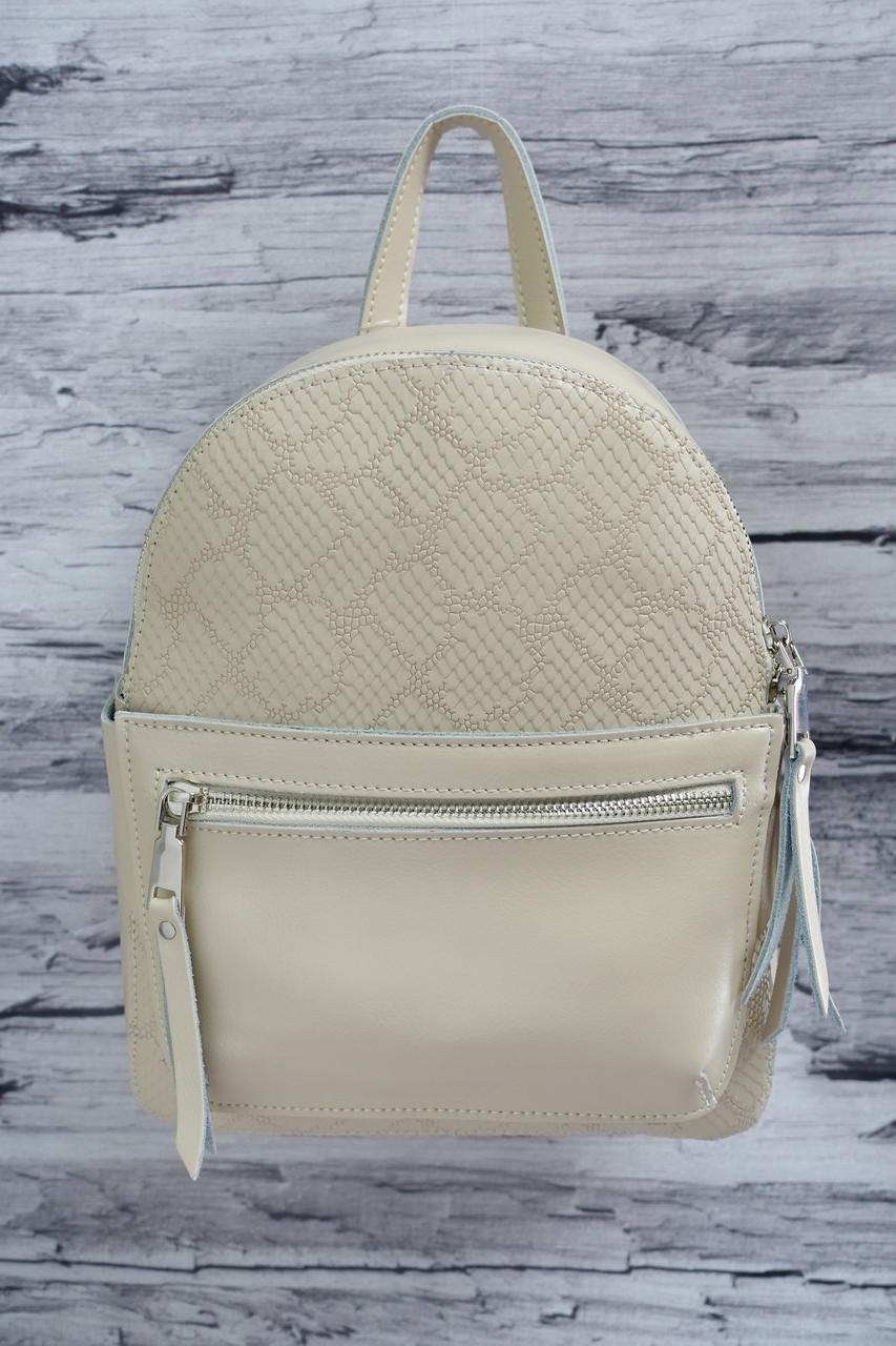 Сумка-рюкзак из натуральной кожи A-226 cream