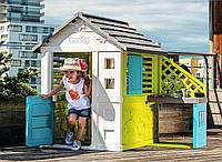 Детский игровой домик Радужный с летней кухней (голубой) Smoby  810711