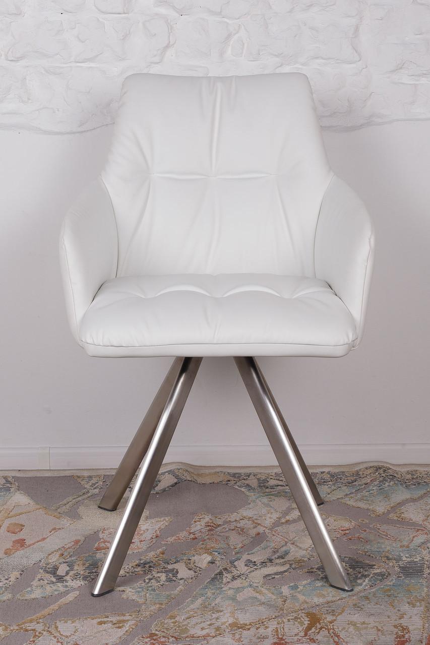 Кресло поворотное Leon, белый