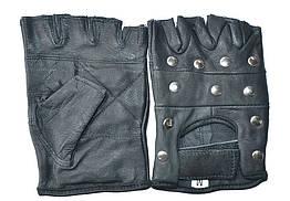 Перчатки кожаные с заклепками, Размер XL