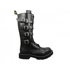 Ботинки STEEL 139/140OZ4P-BLK 20 люверсов с пряжками, Размер 36