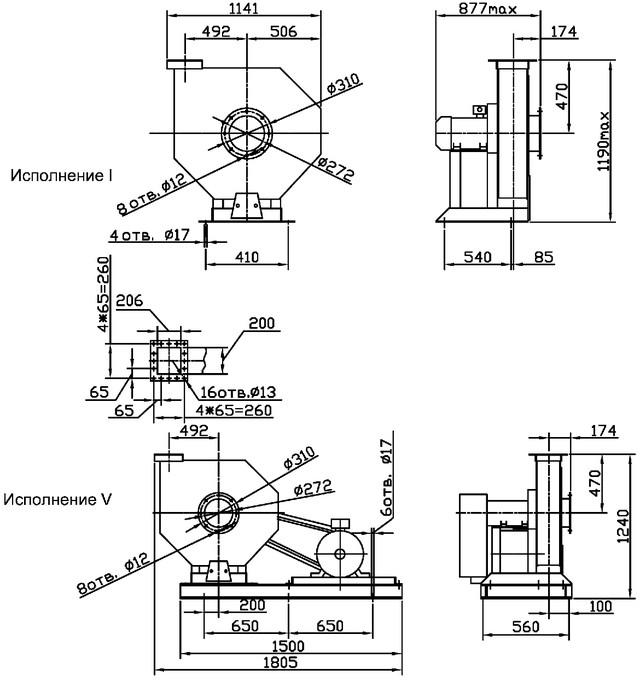Вентиляторы радиальные высокого давления ВВД 5 (ВР 165-15-5.2) - купить